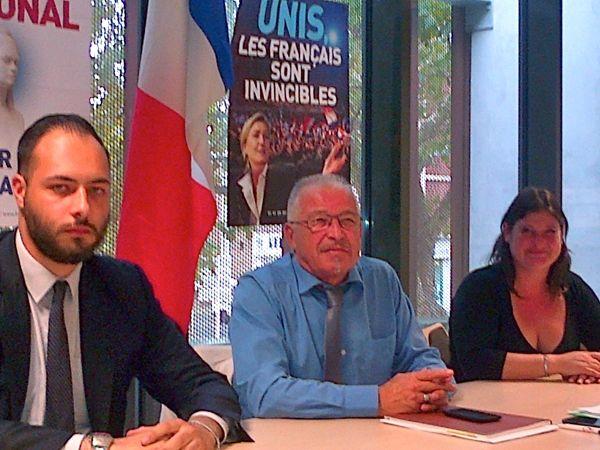 Gauthier Bouchet Jean-Claude Blanchard et Stéphanie Sutter élus FN à Saint-Nazaire