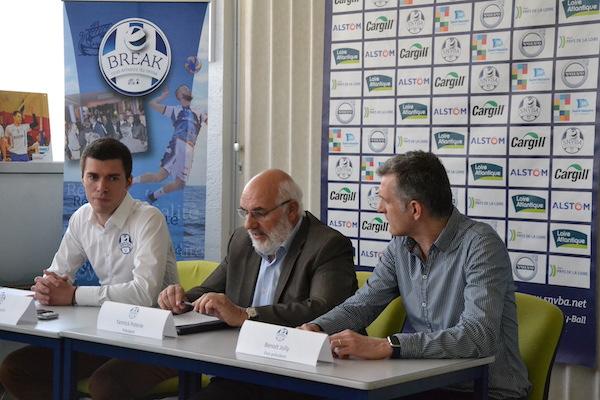 De gauche à droite :  Gilles Gosselin (manager Général )  Yannick Poterie (Président) Benoit Jolly (Vice-président)