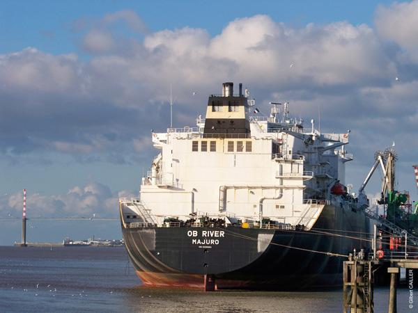 Ob river est arrivé à Montoir en provenance des mers arctiques