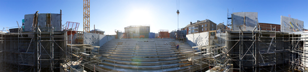 Vue panoramique de la cage de scène