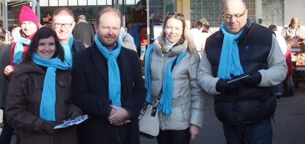 Ludovic Le Merrer et une partie de son équipe de campagne