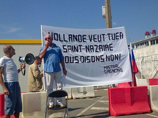 J.C Blanchard à la manisfestation