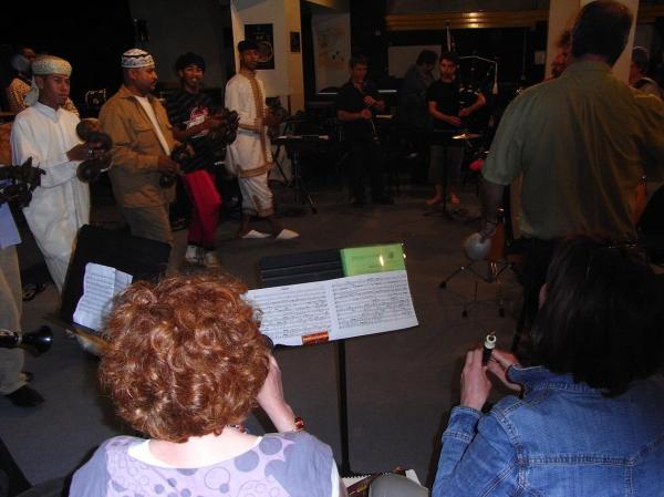 Les musiciens au conservatoire.