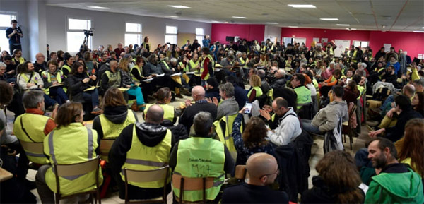 Assemblée des assemblées des Gilets Jaunes à saint-Nazaire