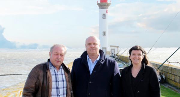 Eric Coquen, Denis Lambert, Sandra Vandeuren Saint-Nazaire-sur-Mer