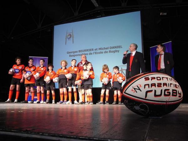 L'école de rugby du SNR était à l'honneur mercredi. La politique de formation a été l'un des critères déterminants pour la remise du trophée.