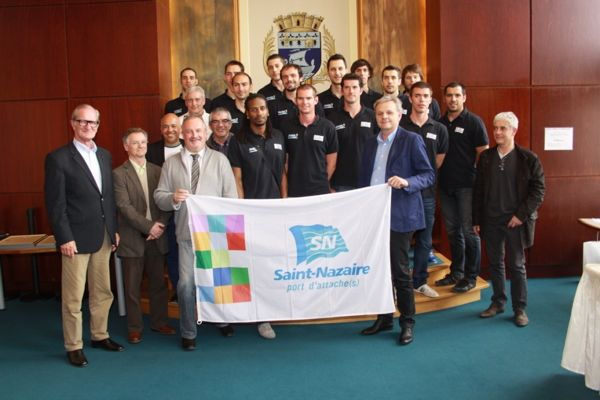 L'équipe nazairienne a été honorée jeudi soir à l'Hôtel de ville de Saint-Nazaire