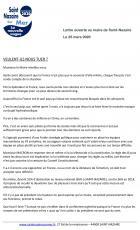 Lettre ouverte de Denis Lambert au maire David Samzun