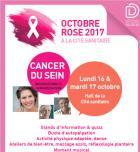 Octobre rose 2017: La Cité sanitaire de Saint-Nazaire se mobilise contre le cancer du sein