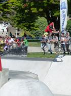 Premier BMX Red full pipe contest