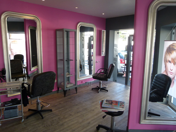 Salon de coiffure rose design