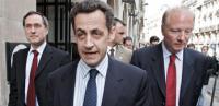 Claude Guéant, Nicolas Sarkozy et Brice Hortefeux © PASCAL PAVANI / AFP