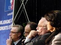 Christophe Priou, Jean-François Copé, André Trillard, et Daniellee Rival songent aux futures échéances électorales
