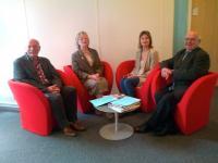 de gauche à droite :Ph.Leroux, S.Rousse-Charier, S. Faÿ et R.Terrien