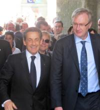 Christophe Priou ici avec Nicolas Sarkozy à Guérande