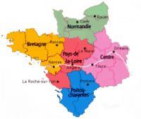 La Région Pays de Loire, sans La Loire-Atlantique, constitue une région à 4 départements avec la Vendée, La Mayenne, Le Maine et Loire et la Sarthe. Cette variante a l'avantage d'être réalisable immédiatement.