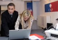 Nicolas Sarkozy a voté à la permanence UMP du XVIe arrondissement de Paris