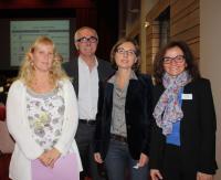 Natacha Lespinet, Philippe Le Roux, Marine Plantevin et Leïla Moret.