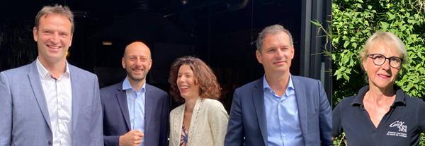 Stéphane Gachet, Stanislas Guérini (délégué général LREM), Delphine Corbière,  Jean-Yves Gontier -  Danièle Patra