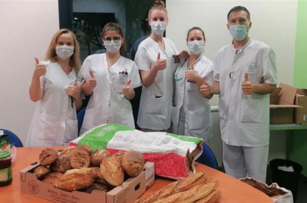 Lorient : Hommage aux soignants de la boulangerie Cres'pin