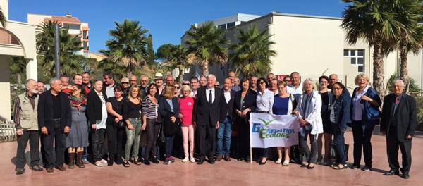 Au centre de la photo Yves Pietrasanta Président et Elhadi AZZI Secrétaire National de Génération Ecologie