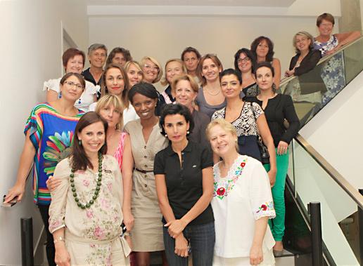 Rachida Dati et son groupe d'élues, militantes et citoyennes