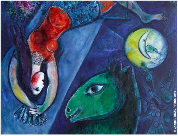 Marc Chagall, Le Cirque Bleu, 1950 - 1952