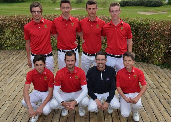 L'équipe de Dinard Pacôme LEBRET (Cap), Paul GABAY, Pierre BOCLAUD, Tom DOUBLET, Maxime LEGROS, Baptiste GUEZENOC, Henri RENOUARD et Sylvain BESNOUX( coach ) .