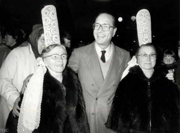Jacques Chirac en pays des Bigouden