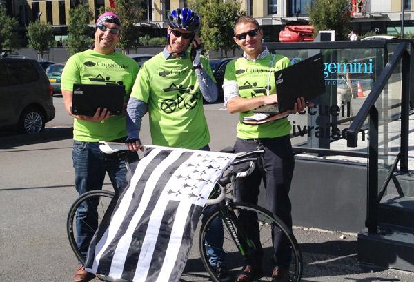 Erwan de Kermadec Nageur,  Dominique Corgne Cycliste, Ronan Le Janne Coureur