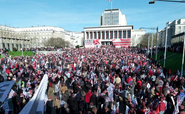 Arkéa manifestation de janvier 2016