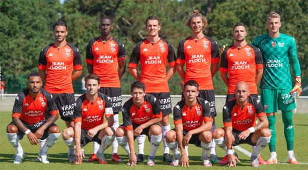 L'équipe qui débuta le match contre Concarneau