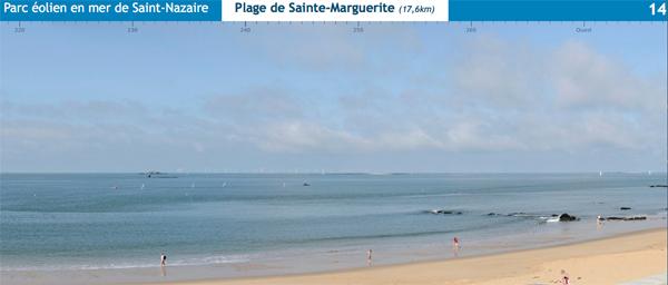 Aspect visuel  du projet de la plage de Ste Marguerite