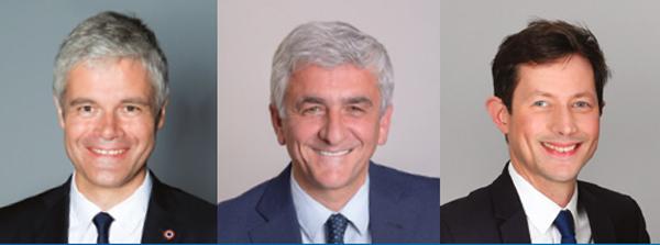 Laurent Wauquiez, Hervé Morin, François-Xavier Bellamy
