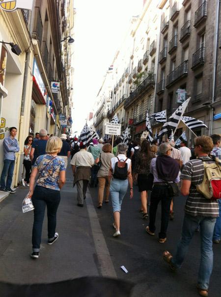Nantes manifestation pour la réunification de la Bretagne