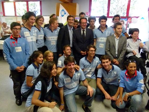 Les jeunes UMP avec Frédéric Lefebvre