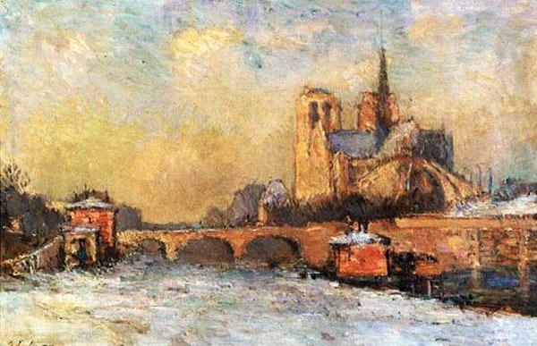 Notre-Dame Albert Lebourg 1909