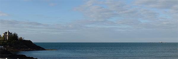 Parc éolien simulation de visibilité depuis la plage de Portrieux à Saint-Quay-Portrieux