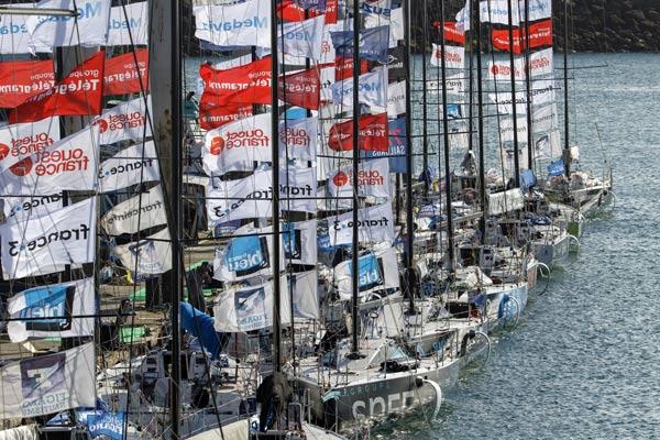 Port d'Armor de Saint-Quay-Portrieux, les 35 solitaires du Figaro
