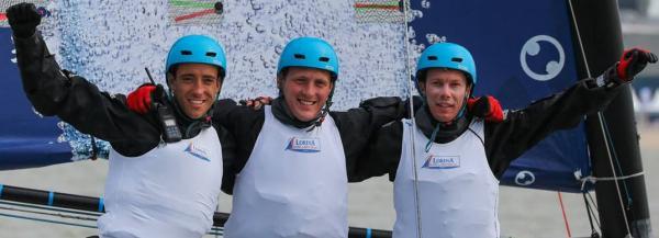 Quentin Delapierre, Matthieu Salomon et Quentin Ponroy ©JMLIOT /TFV/ASO © MORGAN BOVE /TFV/ASO