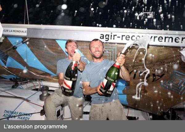 Adrien Hardy et Thomas Ruyant (Agir Recouvrement)