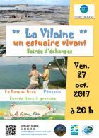 Pénestin Morbihan : Soirée d'échange « La Vilaine, un estuaire vivant »