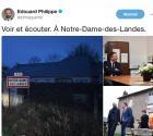 Visite surprise d'Edouard Philippe ce matin à Notre-Dame-des-Landes
